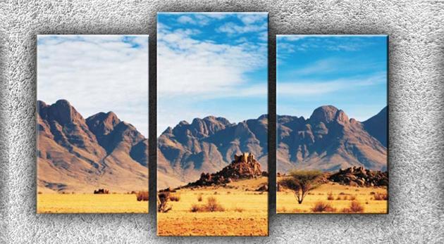 Fotka zľavy: Jedinečný trojdielny obraz na kvalitnom maliarskom plátne so smrekovým rámom s fantastickým 3D efektom len za 14,50€. Pre exkluzívny šat vašich interiérov!