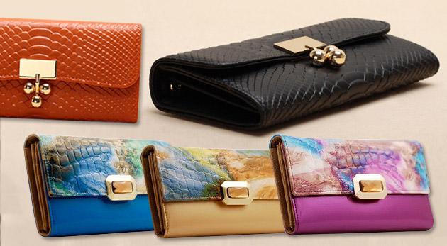 Fotka zľavy: Široká ponuka dámskych kožených peňaženiek len za 25,90€ vrátane poštovného a balného. Stavte sa farebnú kvalitu a eleganciu!