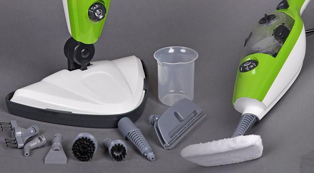 Fotka zľavy: Tešte sa z každej chvíle vášho upratovania s novým parným mopom 10 v 1 len za 54,90€! Nepoužívajte žiadne chemikálie, čistite svoju domácnosť len antibakteriálne parou. Vhodné aj do rodín s deťmi!