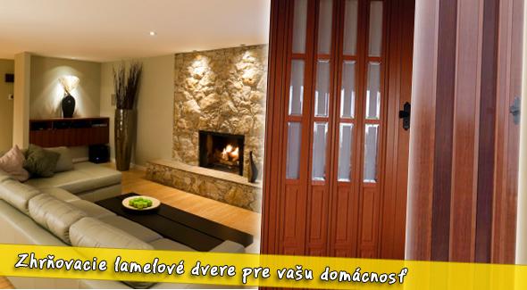Fotka zľavy: Skladacie lamelové dvere za super cenu už od 47€. Elegantné riešenie, ktoré šetrí priestor. Využite našu 50% zľavu.