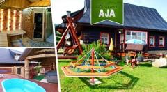Zľava 48%: Zažite tú pravú dovolenku v zrubovom Penzióne AJA v Belianskych Tatrách už od 46 €. V cene raňajky, večere a jazda na koči s konským záprahom! Deti do 5 rokov zadarmo.