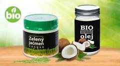 Zľava 54%: Bio kokosový olej Extra Virgin (400 ml) a kosher zelený jačmeň (220 g) - 100 % extrakt šťavy z mladých lístkov už od 8,80 €. Pomôžte si k zdraviu výrobkami spĺňajúcimi najvyššie kritériá kvality!