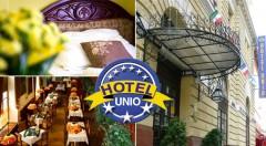 Zľava 32%: Komfortný City Hotel Unio*** v centre Budapešti iba za 99 € na 3 dni pre dvoch vrátane bohatých raňajok. Urobte si výlet do perly na Dunaji a nasajte jej historickú atmosféru! Dieťa do 6 rokov zdarma.