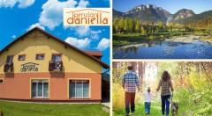 Zľava 43%: Blaho pre dušu i telo v srdci Pienin počas 3 alebo 4 dní v Penzióne Daniella s raňajkami alebo polpenziou už od 39 €. Skvelý tip na vynikajúcu rodinnú dovolenku v pokojnom objatí hôr!