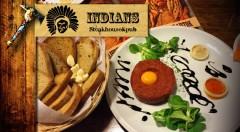 Zľava 50%: Vychutnajte si výbornú špecialitu - tatarák z pravej hovädzej sviečkovice so 6 chrumkavými hriankami len za 5,90 € v štýlovom Indians Pube v Ružomberku.
