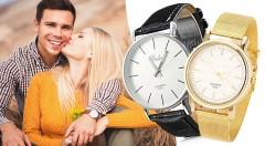 Zľava 60%: Stavte na klasiku v podobe kvalitných dámskych alebo pánskych hodiniek Quartz len za 7,90 €. Prvotriedny strojček rovnakej značky, kožený alebo zliatinový remienok a jednoduché nastavenie!