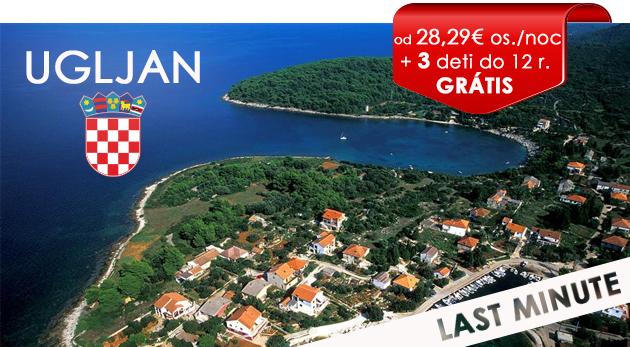 Fotka zľavy: Jedinečná LAST MINUTE PONUKA! Dovolenka v obľúbenom chorvátskom Hoteli Ugljan priamo na pláži už od 170 € na 4, 5 alebo 8 dní s polpenziou a až 3 deťmi do 12 rokov zadarmo!