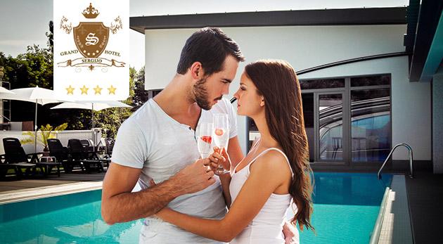 Fotka zľavy: Letná romantika v krásnych Piešťanoch v elegantnom Grand Boutique Hoteli Sergijo**** len za 120 € pre dvoch na 3 dni s exotickými masážami, večerou pri sviečkach, wellness a ďalšími bonusmi!