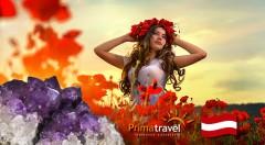 Zľava 33%: Deň plný zábavy v Rakúsku! Makové slávnosti v dedinke Armschlag plné makových stánkov, jedla, ľudových tancov a očarujúci svet drahých kameňov vo Svete ametystov len za 24,90 € s CK Prima travel.