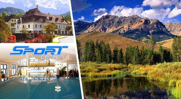 Fotka zľavy: Doprajte si koniec leta plný turistiky, športu či kúpania v termálnych kúpeľoch v malebnom prostredí rakúskych Álp počas 3-dňového pobytu v Penzióne Sport Alpy len za 93 € pre dvoch s raňajkami.