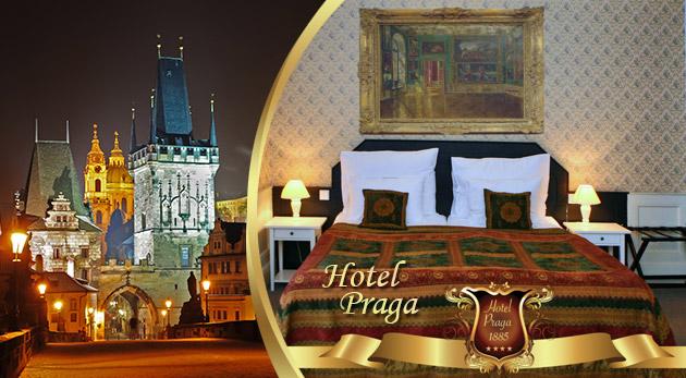 Fotka zľavy: Nasajte atmosféru letnej Prahy v rámci pobytu v historickom Hoteli PRAGA 1885**** už od 49,90 € s raňajkami pre dvoch. Variant i s romantickou večerou alebo plavbou po Vltave s obedom alebo večerou.