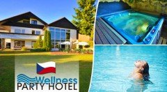 Zľava 60%: Dovolenka plná zábavy a relaxu v luxusnom Wellness Party Hoteli**** pri Zlíne len za 66 € na 3 či 4 dni s raňajkami, večerou, voľným vstupom do wellness, diskotékami, kúpaním a opaľovaním bez plaviek!