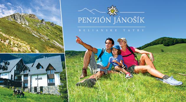 Fotka zľavy: Leto v krásnych Belianskych Tatrách pre milovníkov oddychu i aktívnej dovolenky - 3-dňový pobyt alebo 4-dňový poznávací pobyt v Penzióne Jánošík v Ždiari už od 69 € pre dvoch s polpenziou či výletmi.