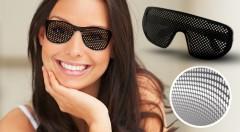 Zľava 62%: Štýlový pomocník pre zlepšenie zraku až o 20 % v podobe okuliarov s dierkovaným povrchom len za 6,90 € vrátane poštovného a balného. Na výber zo 4 trendy modelov. Skvelý doplnok na párty či festival!