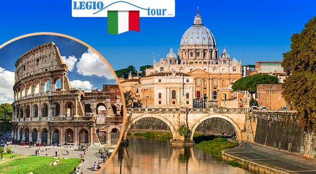 Fotka zľavy: Spoznajte bohatú históriu večného mesta Rím a tiež najmenší štát na svete - Vatikán - na 5-dňovom autobusovom zájazde len za 169 €. V cene doprava, ubytovanie v hoteli s raňajkami aj prehliadka mesta.