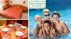 Zľava 39%: Voľné chvíle plné pohody v Hoteli Korzo** v Nových Zámkoch už od 79 € s raňajkami, vstupom na kúpalisko aj do sauny. Na výber aj rodinný pobyt s 2 deťmi do 15 rokov v cene!