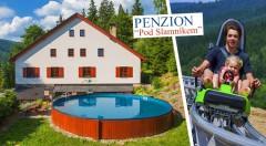 Zľava 45%: Letné relaxačné dni v krásnej prírode Dolnej Moravy v Penzióne Pod Slamníkem blízko mnohých zábavných atrakcií už od 73 € pre dvoch s raňajkami, vírivkou i bazénom! Ideálna dovolenka pre celú rodinu!