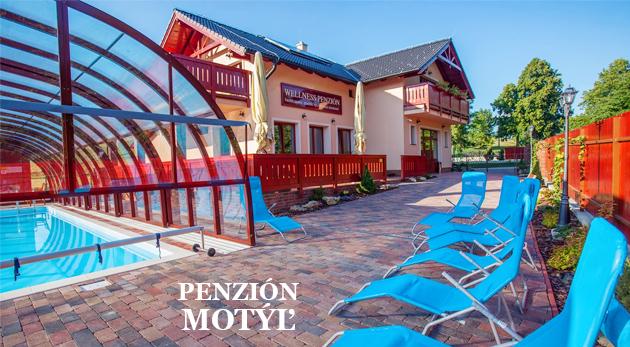 Fotka zľavy: Letná dovolenka pri Liptovskej Mare v komfortnom Penzióne Motýľ s novým bazénom a saunami iba za 44 € na 3 dni vrátane chutnej polpenzie a skvelých zliav do Vitalparku Lúčky a Bešeňovej!