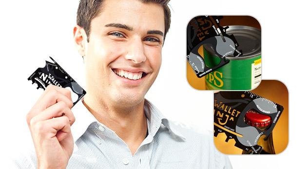 Fotka zľavy: Praktický multifunkčný nástroj, ktorý má funkciu skrutkovača, otvárača na konzervy či stojanu na telefón len za 2,99 €. Bonus 3+1 zdarma!