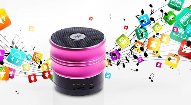 Fotka zľavy: Pustite si hudbu kdekoľvek budete chcieť! Presvedčí vás kvalitný zvuk bezdrôtového mini mp3 reproduktoru len za 14,90 € s bluetooth a USB či Micro SD vstupom.