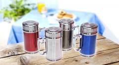 Zľava 56%: Štýlový nerezový hrnček s vrchnákom len za 6,99 € udrží vaše nápoje dlho teplé či studené. Milovníci čaju ocenia i praktické sitko v hrnčeku!