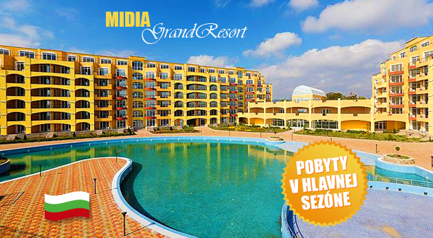 Fotka zľavy: Vaša pravá dovolenka v plne vybavenom apartmáne Midia Grand Resort v Bulharsku pri Čiernom mori len za 229 € môže začať. Výpredaj posledných termínov v top sezóne!