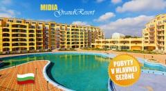 Zľava 56%: Vaša pravá dovolenka v plne vybavenom apartmáne Midia Grand Resort v Bulharsku pri Čiernom mori len za 229 € môže začať. Výpredaj posledných termínov v top sezóne!
