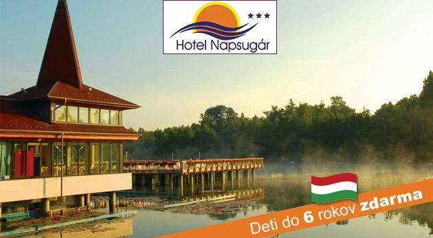 Fotka zľavy: Relax v známom kúpeľnom meste Hévíz v Hoteli Napsugár*** blízko termálneho jazera len za 79€ pre dvoch na 3 dni v apartmáne s raňajkami, celodenným vstupom do kúpeľov a saunou. Deti do 6 rokov zdarma!