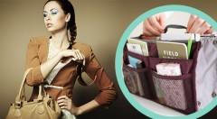 Zľava 54%: Šikovný organizér do kabelky len za 5,99 €. Vyberte si zo siedmich farieb vášho pomocníka, vďaka ktorému dosiahnete poriadok a prehľad vo vašej kabelke!