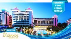 Zľava 26%: Dokonalá letná dovolenka v Turecku v luxusnom rezorte Side La Grande***** - 8-dňový letecký zájazd len za 660 € vrátane ULTRA ALL INCLUSIVE, využívania bazénov a SPA. Termíny v TOP letnej sezóne.