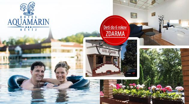 Fotka zľavy: Liečivý relax v kúpeľnom Hévíze v Hoteli Aquamarin*** s vlastným termálnym prameňom len za 149 € pre dvoch na 3 dni s polpenziou a voľným využívaním hotelového spa a wellness! Deti do 6 rokov zdarma.