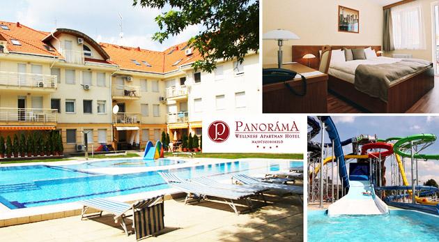 Fotka zľavy: Relax pri maďarskom kúpeľnom komplexe Hungarospa v Panoráma Wellness Apartman Hoteli**** už od 84 € pre 2 osoby s plnou penziou, voľným vstupom do wellness a vstupenkou do kúpeľov!