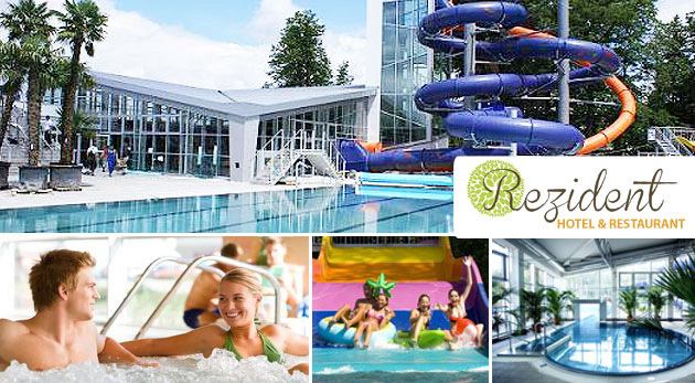 Fotka zľavy: Zrelaxujte v krásnom prostredí Turčianskych Teplíc v Hoteli Rezident*** už od 109 € pre 2 osoby s polpenziou, masážou, kolagénovou procedúrou či vstupom do termálneho aquaparku a ďalšími bonusmi.