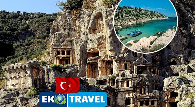Fotka zľavy: Spoznajte krásy malebného Turecka počas 8-dňového leteckého zájazdu len za 250€ s možnosťou výletu na Rodos. V cene ubytovanie v komfortných hoteloch s polpenziou a využívanie ich kúpeľných zariadení!