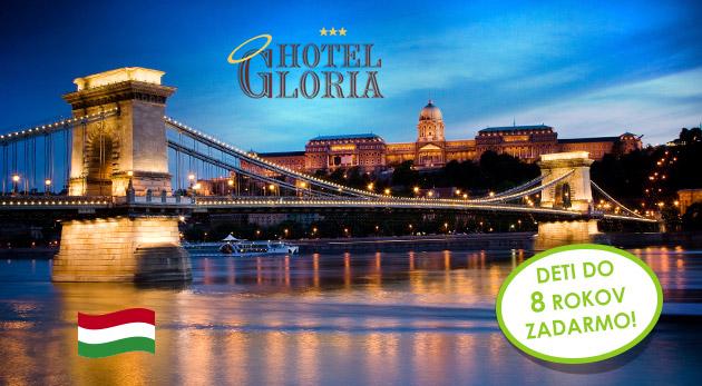 Fotka zľavy: Urobte si výlet do čarovnej Budapešti s ubytovaním v Hoteli Gloria*** blízko centra len za 74 € pre 2 osoby na 3 dni vrátane raňajok a welcome drinku. Deti do 8 rokov zadarmo!