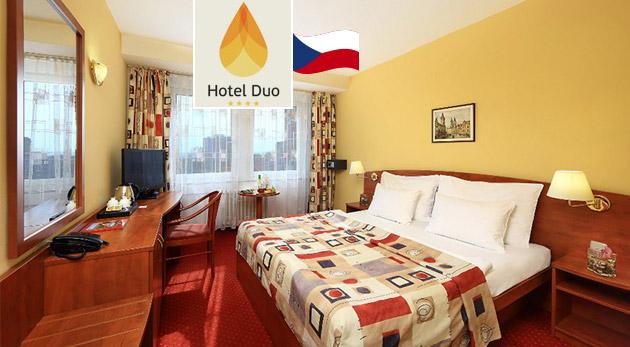 Fotka zľavy: Nechajte sa rozmaznávať v Hoteli Duo**** v Prahe len za 89 € pre dvoch s raňajkami, welcome drinkom a neobmedzeným využitím sauny aj plaveckého bazéna.