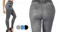 Zľava 57%: Trendy a skvele padnúce legíny s džínsovým vzhľadom iba za 14,99 € - 3 kusy v balení. Stavte na módny hit, v ktorom budete neodolateľná!