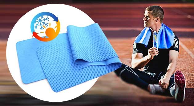 Fotka zľavy: Bojujte proti letným teplotám alebo horúčkam uterákom s chladivým účinkom len za 5,99 €. Chladivý efekt trvá až 2 hodiny.