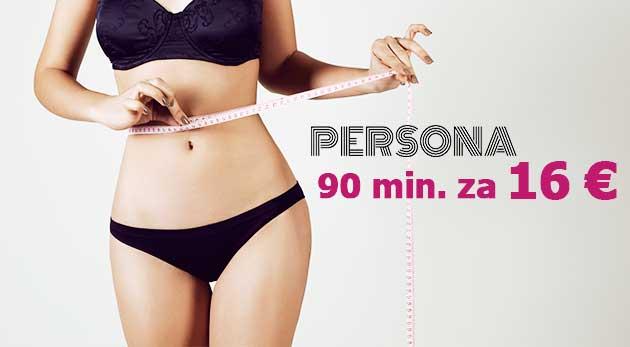 Zľava  Skoncujte s tukovými vankúšikmi: 90-minútový