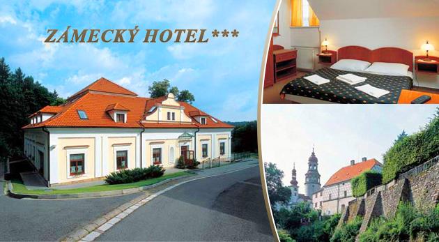Fotka zľavy: Objavte krásu Adršpašsko-teplických skál a ubytujte sa v komfortnom Zámeckom hoteli*** v krásnom meste Náchod iba za 39 € pre 2 osoby vrátane polpenzie. Deti do 6 rokov zadarmo!