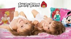 Zľava 30%: Detské posteľné obliečky už od 17,50 € v rôznych vzoroch. Vaše deti určite potešia rozprávkové postavičky ako Mickey Mouse, Macko Pu, Angry Birds či symbol Ferrari.