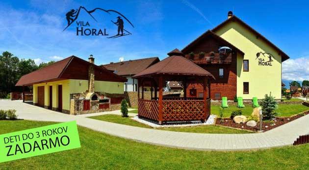 Fotka zľavy: Preskúmajte všetky malebné kúty Liptova počas pobytu v moderných apartmánoch vo Vile Horal len za 11 € na 2 dni. Vynikajúca poloha na turistiku, šport i relax v aquaparkoch! Deti do 3 rokov zadarmo.