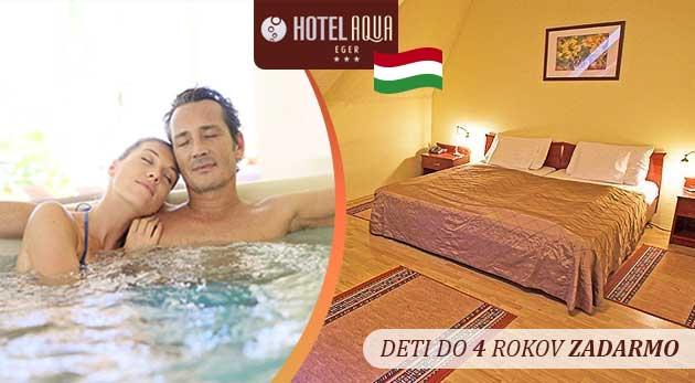 Fotka zľavy: Úžasný wellness oddych v Hoteli Aqua*** v malebnom kúpeľnom meste Eger len za 93€ pre 2 osoby na 3 dni vrátane chutnej polpenzie, vstupu do wellness či arcibiskupských pivníc! Deti do 4 rokov zadarmo.