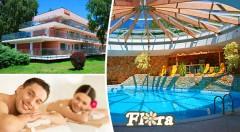 Zľava 43%: Nechajte sa zlákať výdatným oddychom v kúpeľných Dudinciach - 3, 4 alebo 5 dní v Hoteli Flóra už od 139 € pre dvoch vrátane plnej penzie, masáží a využívania bazéna. Dieťa do 3 rokov zadarmo.