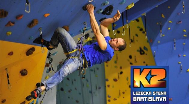 Fotka zľavy: Zdolajte najväčšiu lezeckú stenu na Slovensku! Dvojhodinový kurz lezenia pre začiatočníkov i pokročilých s inštruktorom už od 13,90 € vrátane 1 alebo 3 vstupov na lezeckú stenu a zapožičaním výstroja.