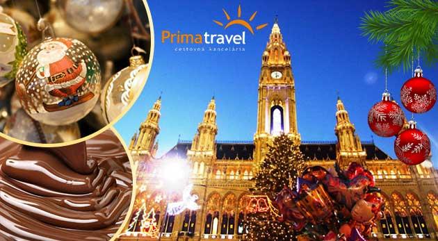 Fotka zľavy: Dokonalá vianočná atmosféra vianočných trhov vo Viedni len za 15,90 €. Po metropole Rakúska vás prevedie skúsený sprievodca a navštívite aj čokoládovňu.