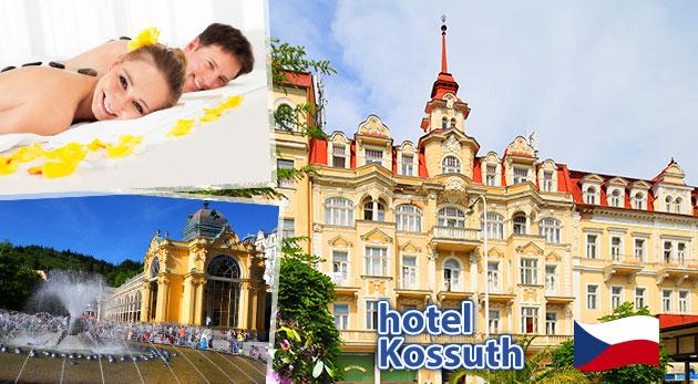 Fotka zľavy: Načerpajte nové sily počas 3, 4 alebo 6 relaxačných dní v Mariánskych Lázňach v Hoteli Kossuth*** už od 109 € pre dvoch vrátane skvelej polpenzie a blahodarných procedúr! Deti do 3 rokov zadarmo.