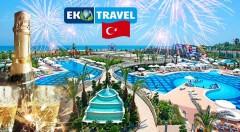 Zľava 37%: Privítajte Nový rok s noblesou a štýlom v ďalekom Turecku na 8-dňovom leteckom zájazde len za 560 €. Čakajú na vás luxusné hotely, ultra all inclusive, spa, masáže, výlet aj silvestrovský gala večer!