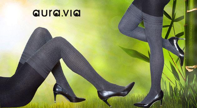 Fotka zľavy: Každý deň sa dajú nosiť pohodlné dámske pančuchy Aura Via z bambusového vlákna len za 3,99 €. Vyberajte z 2 veľkostí.