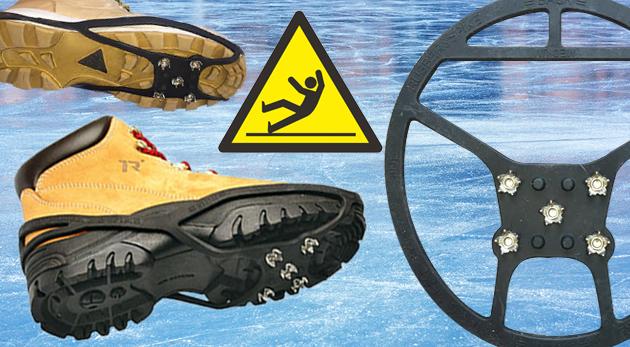 Fotka zľavy: Získajte istý a pevný krok vďaka protišmykovým návlekom na obuv z kvalitného gumového materiálu odolného voči mrazu len za 5,99€. Ideálne na turistiku i šport a povrchy ako sneh, ľad či mokrá tráva!